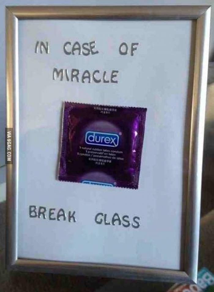 bir mucize anında, camı kırınız