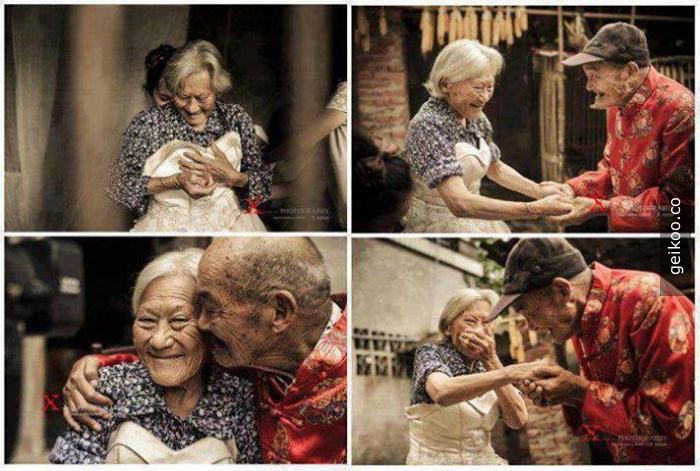 100 ve 104 yaşındaki çiftler, aşk ölümsüz gibi sanki