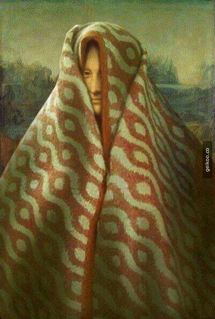 Mona Lisa bile üşüyor