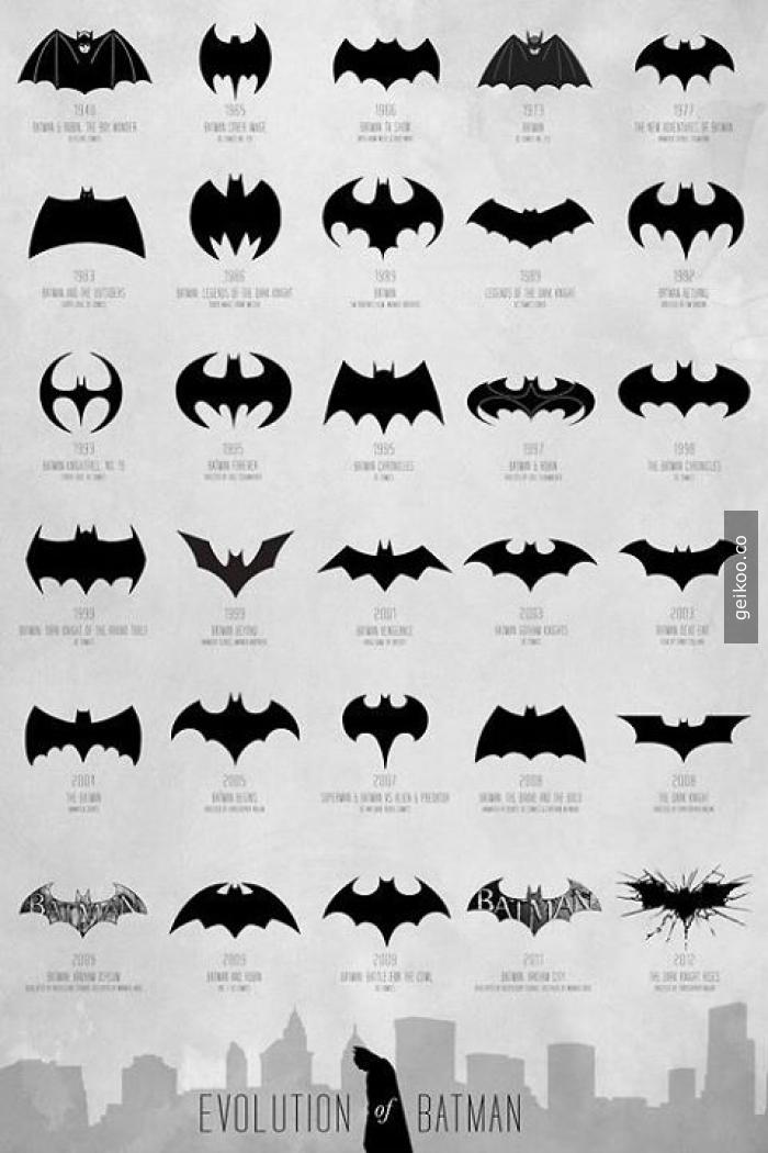Dünden bugüne Batman logoları