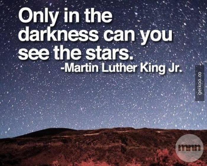 Yıldızları sadece karanlıkta görebilirsin