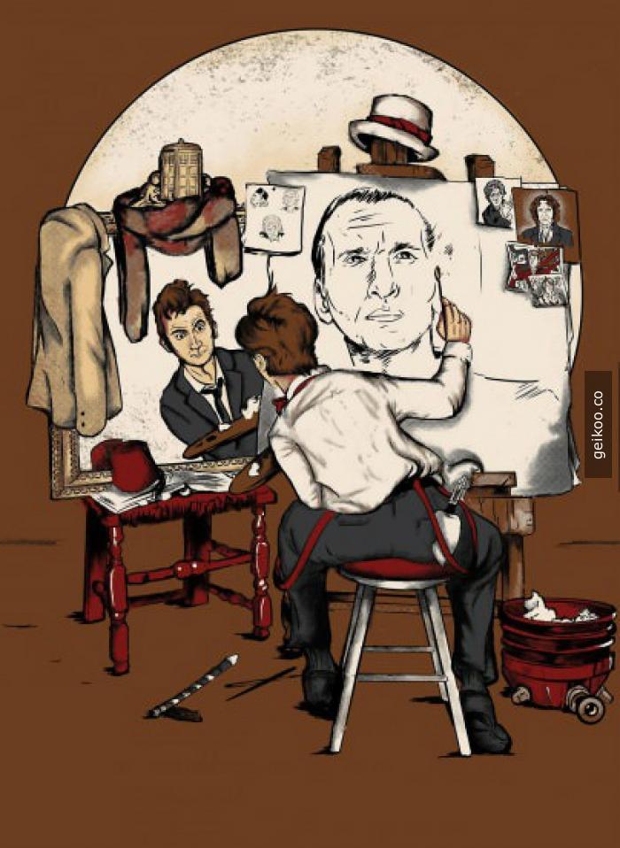 Doctor kendi portresini çiziyor