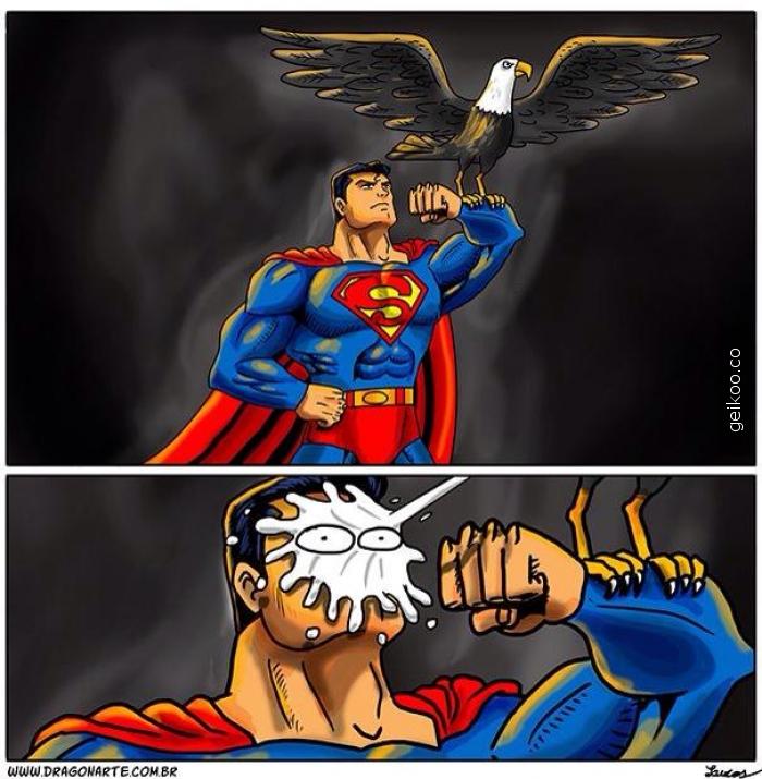 Süpermen ve kartalı