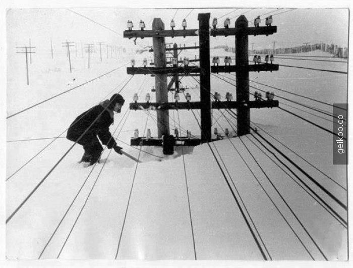 1960 yılında kış - Sibirya