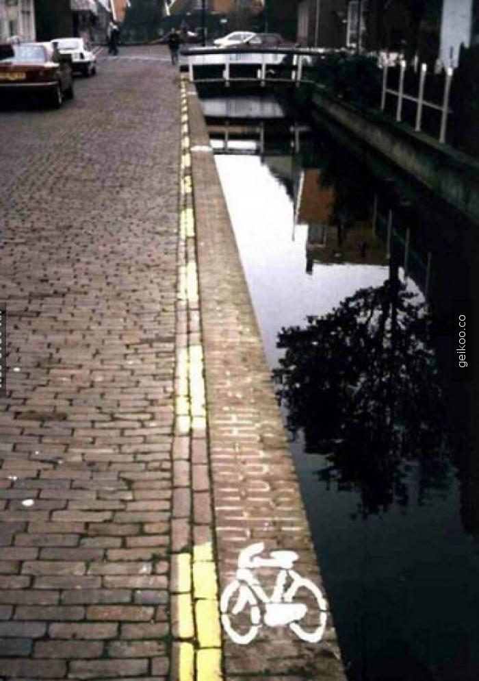 Hollanda'da uzman seviyesindeki bisiklet yolu