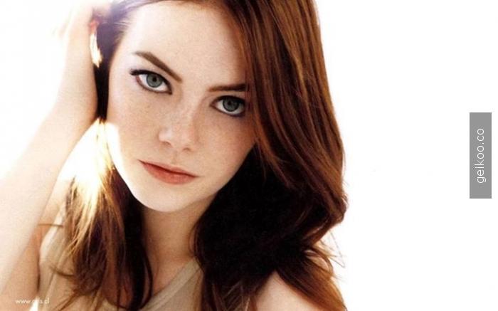 emma stone ve kocaman güzel gözleri