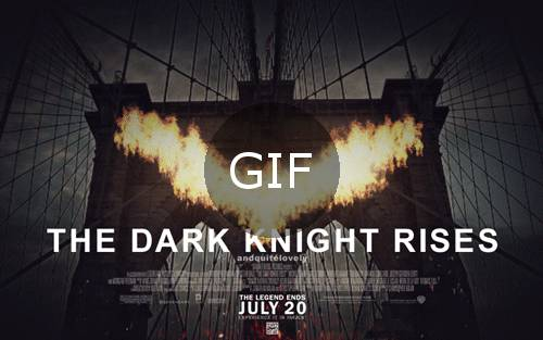 batman dark knight gif film afişi