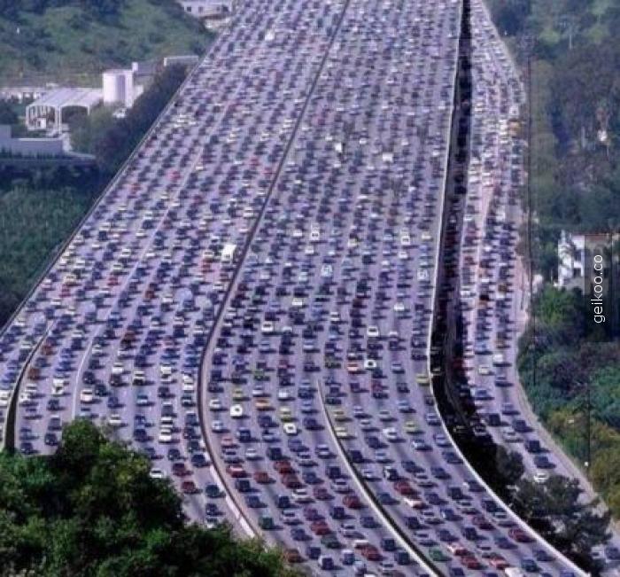 Pekin'de trafik