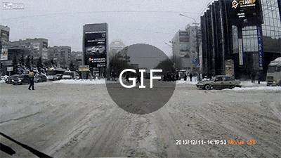 Rusyada karlı sıradan bir gün