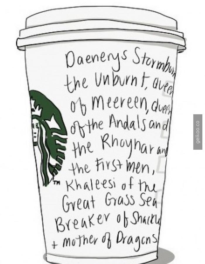 daenerys starbucks'a giderse