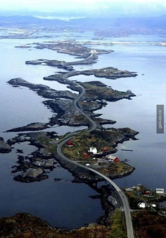 Norveç'teki Atlantik Okyanusu yolu