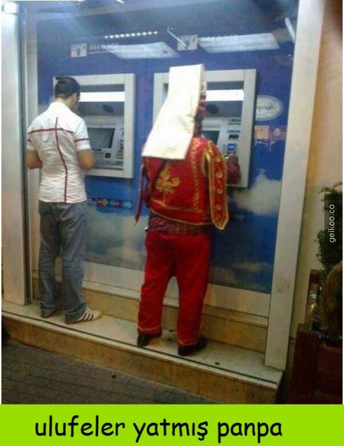 Osmanlı ekonomi bankası atmsi önü