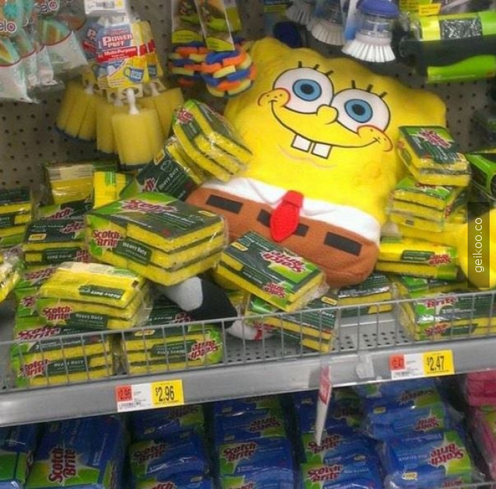 sponge bob temizlik ne rahat