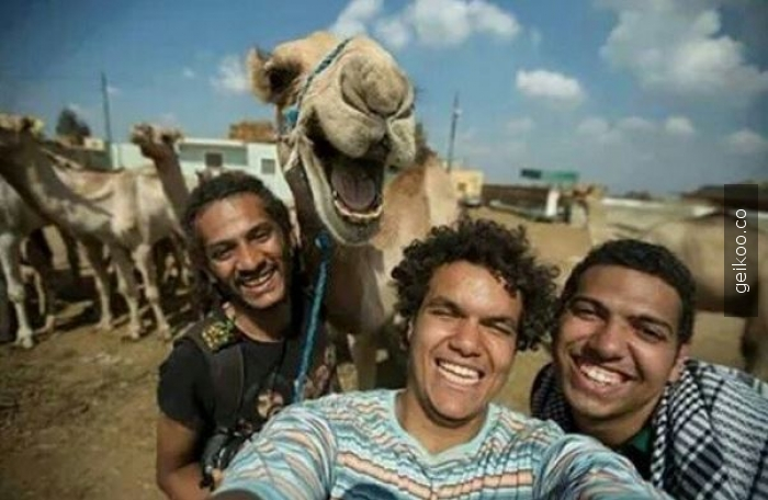 çok mutlu bir selfie