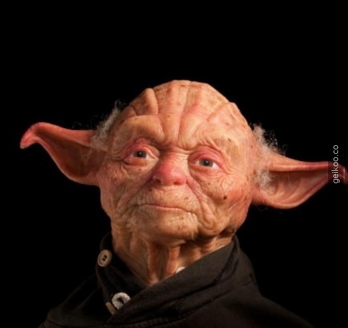 Beyaz tenli Yoda
