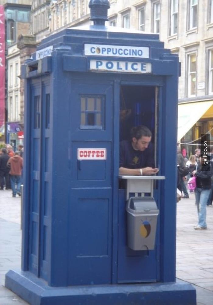 İngiltere Glasgow'da bir kahveci