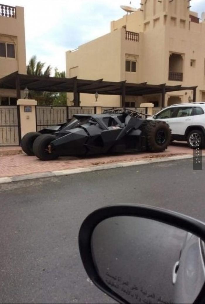 Birleşik Arap Emirliklerinde Batmobil var arkadaşlar