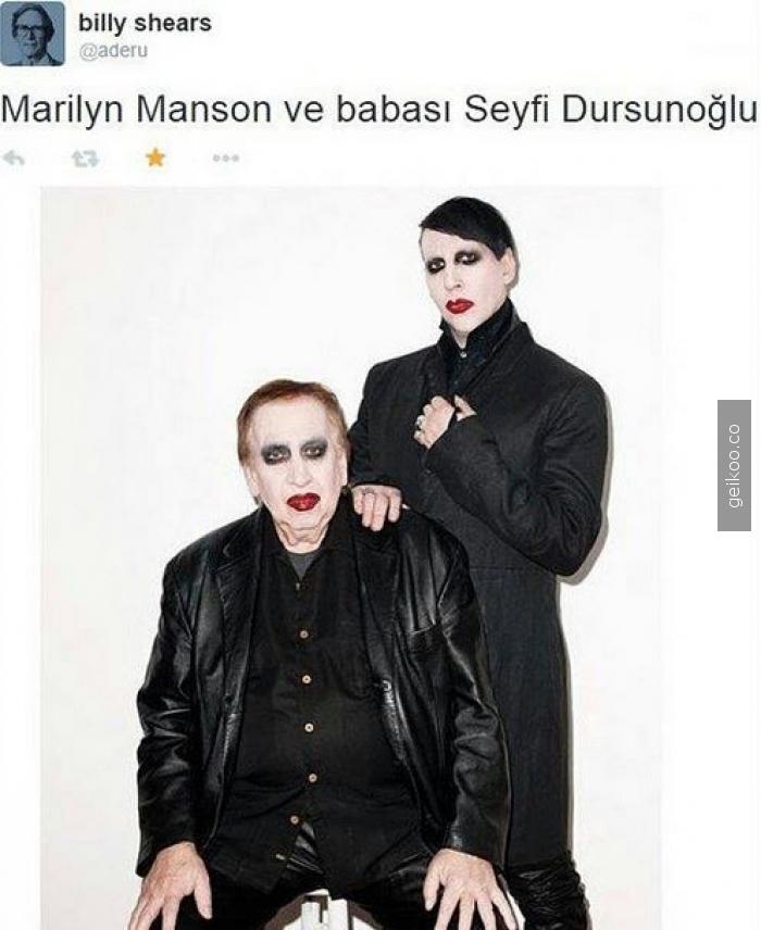 Marliyn manson ve babası