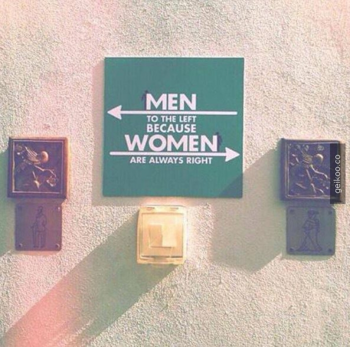 women always right