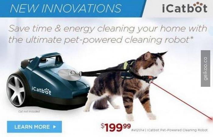 Asrın icadi kedi enerjisiyle çalışan süpürge