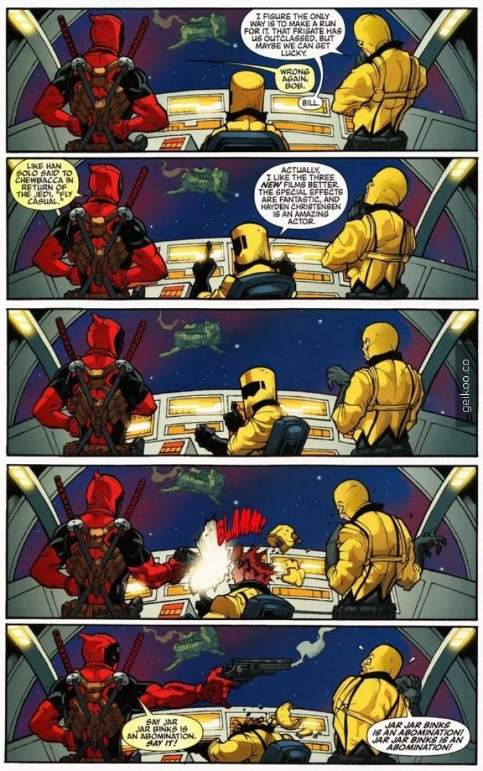 star wars ve deadpool