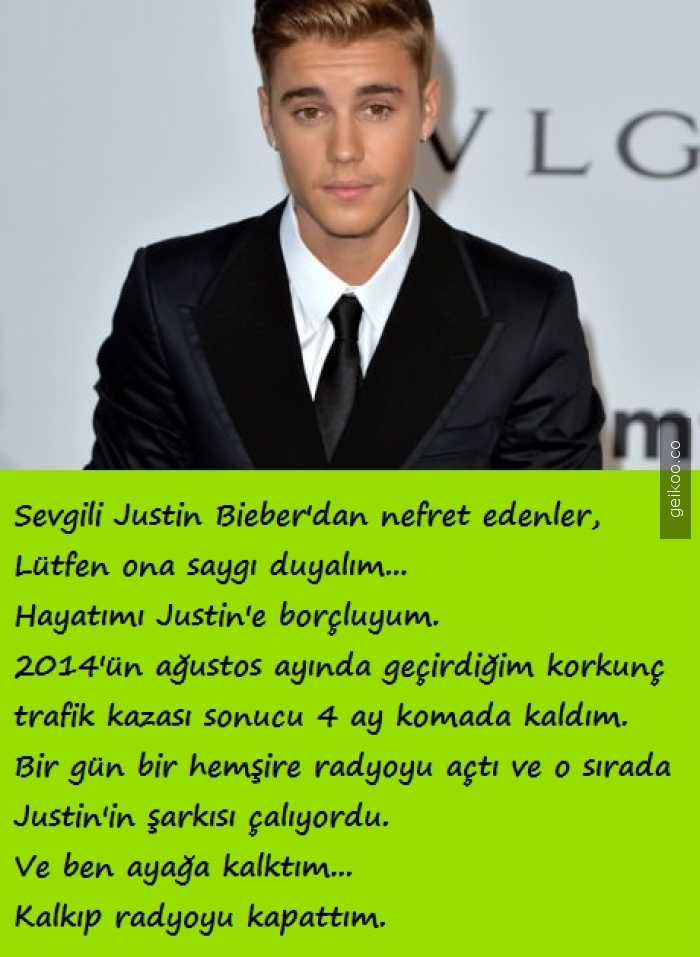 Sevgili Justin Bieber'dan nefret edenler