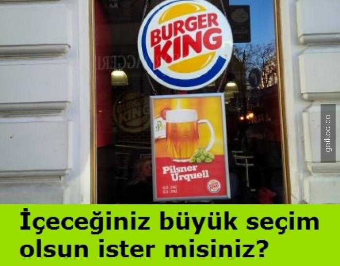 Çek Cumhuriyet'inde Burger King içecek olarak bira veriyormuş gençler